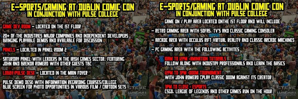 game zone dublin comic con pulse college