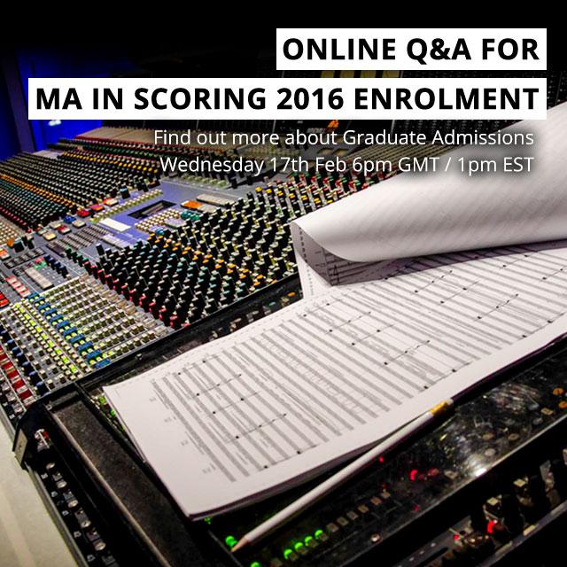 Film Scoring Masters Online Webinar - 2016 Grad Enrolment