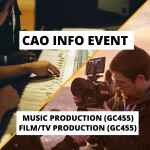 CAO info event pulse college film production music production 2