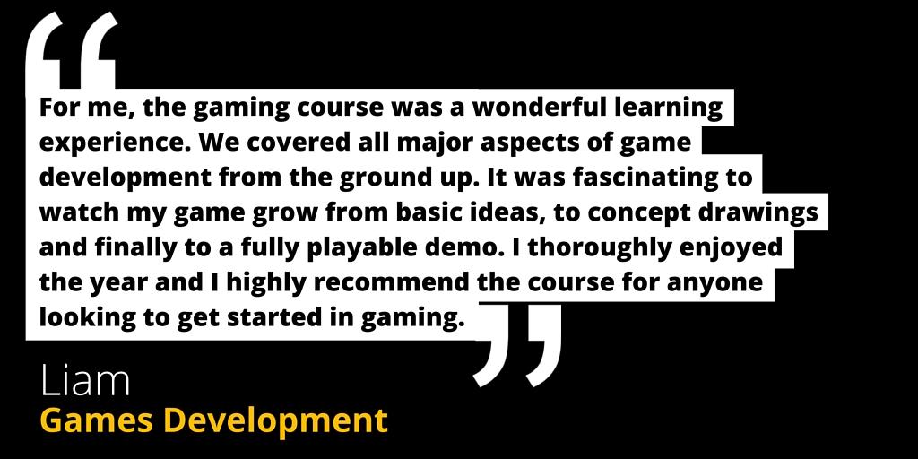 games development game development pulse college testimonial
