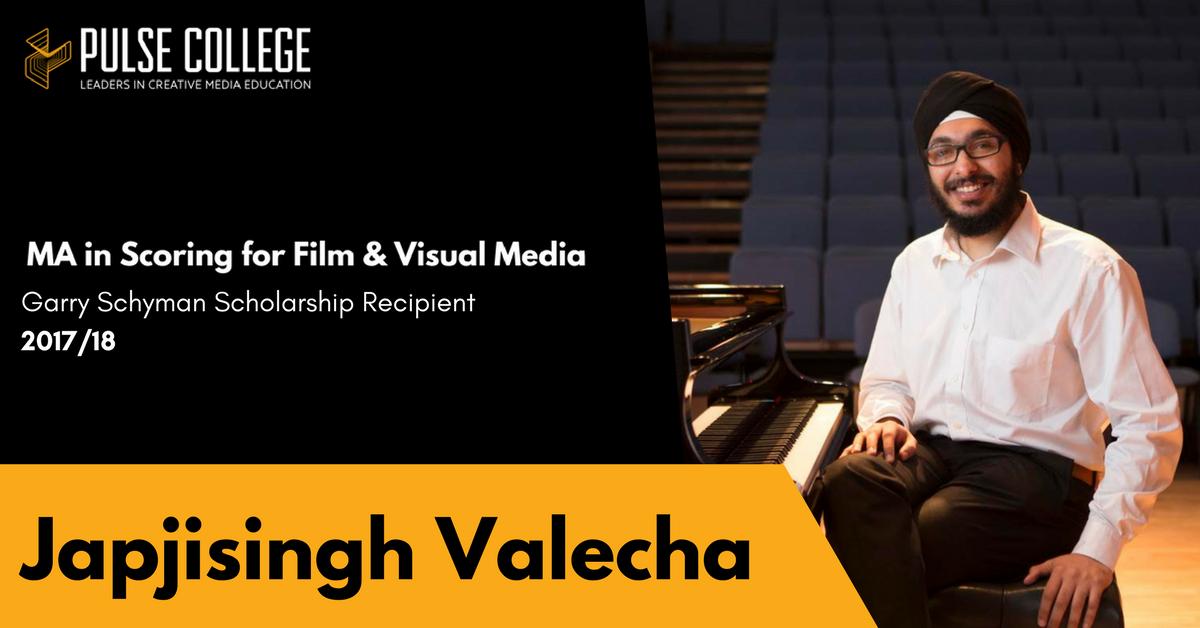 Japjisingh Valecha pulse college film scoring scholarship
