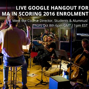 MA in Scoring - Live & Online Info Session