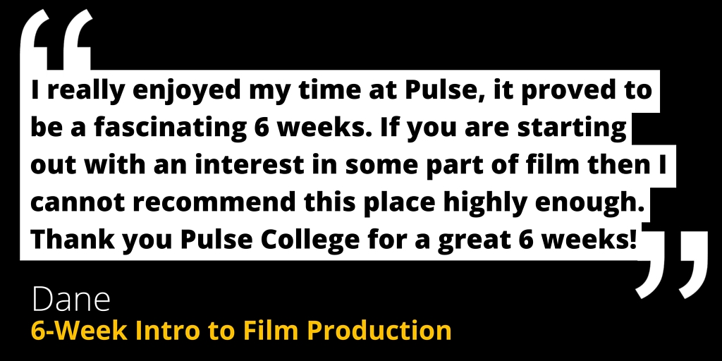 film courses screenwriting pulse college testimonial